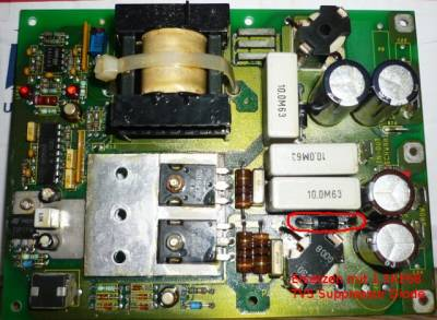 DC/DC altes Modell PCB 301189-5
